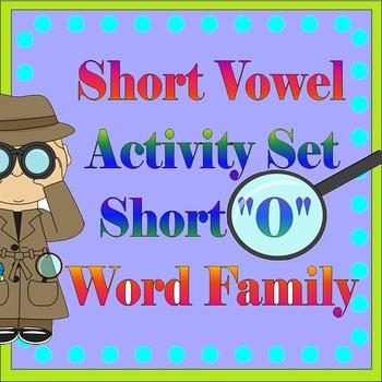 """Vowel Letter """"O"""" Activity Set"""