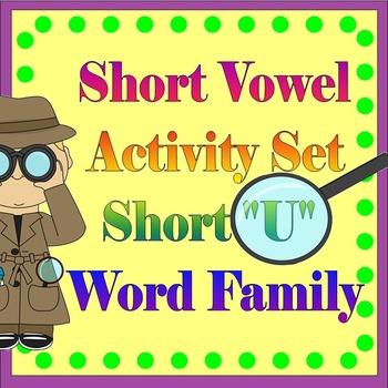 "Vowel Letter ""U"" Activity Set"