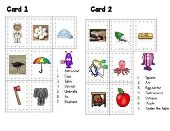 Valentine -Kindergarten- Special Ed.-Vowel Lotto Game- (Valentine Game)