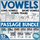 Vowel MEGA bundle - long & short vowels, vowel teams - Passages and Board Games!
