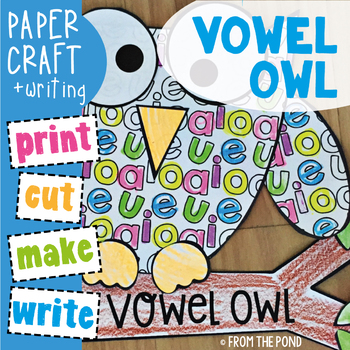 Vowel Owl Paper Craft