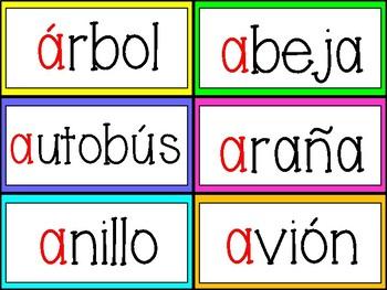 Vowel Pack in Spanish