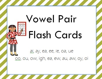 Vowel Pair Flash Cards