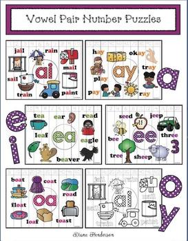 Vowel Pair Number Puzzles