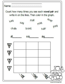 Vowel Pairs: Word Sort, Comprehension Stories, Graphs, and More