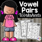 Vowel Pairs Worksheets Color the Sound