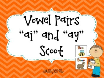Long A Vowel Pairs (AI and AY) Write the Room