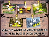 Vowel Pairs/Buddies Poster Set: ay, ai, ea, ey, ee, ie, oe, oa, ow, ue, ui