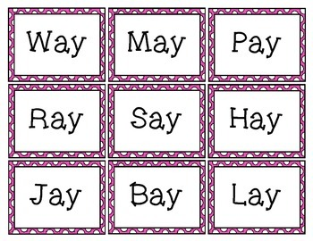 Vowel Pairs Card Game: ai and ay