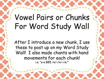 Vowel Pairs/Chunks