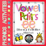 Vowel Pairs Digraphs ee - Literacy Center Activities