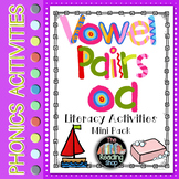 Vowel Pairs Digraph oa Literacy Center Activities