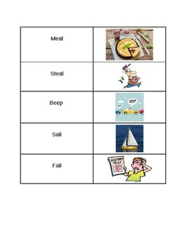 Vowel Pairs Flashcards and Picture Sort