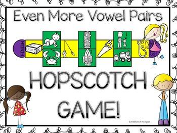 "Phonics Hopscotch ""Vowel Pairs Set Three"" (Game)"