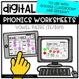 Distance Learning Vowel Pairs IE IGH Worksheets for Google