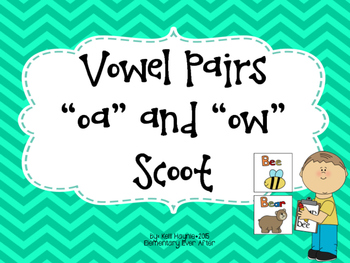 Vowel Pairs OA and OW Write the Room