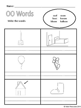 Vowel Pairs - OO, UE, and EW - Lesson Packet