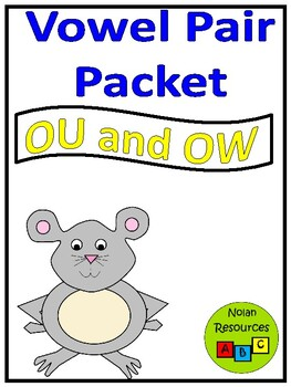 Vowel Pairs - OU and OW - Lesson Packet