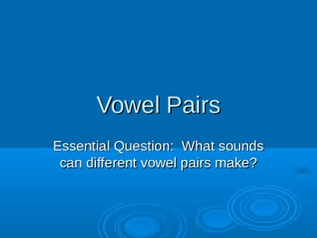 Vowel Pairs - Powerpoint Presentation