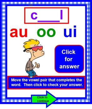 Vowel Pairs Practice with Vowel Diagraphs