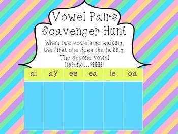 Vowel Pairs Scavenger Hunt