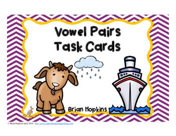 Vowel Pairs Task Cards