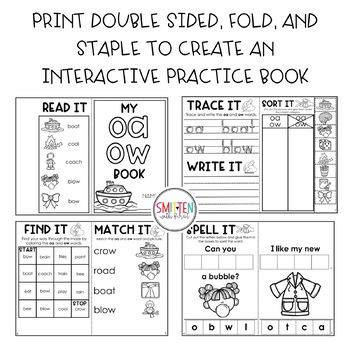 Vowel Pairs | Vowel Teams | Interactive Phonics Books
