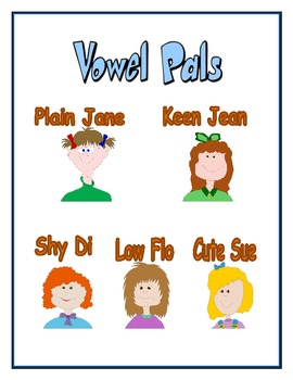 Vowel Pals - Long Vowels - Posters and Lesson Plans