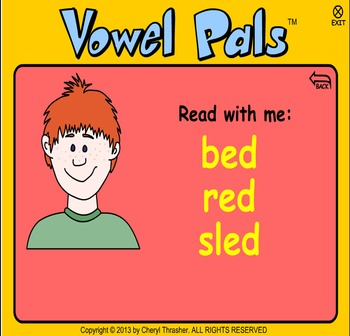 Vowel Pals - Short Vowel Activities and Songs for  Activboard