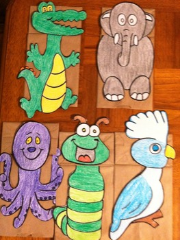 Vowel Beginning Sound Paper Bag Puppets