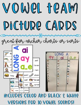 Vowel Pattern Picture and Word Cards