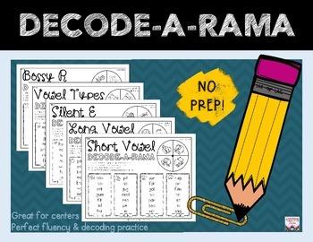 Vowel Patterns DECODE-A-RAMA