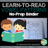 Vowel Patterns Practice No-Prep Binder
