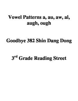 Vowel Patterns a, au, aw, al, augh, ough Goodbye 382 Shin Dang Dong
