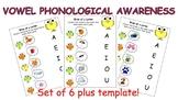 Vowel Phonological Awareness Worksheet Bundle