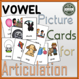 Vowel Articulation Cards for Speech Therapy BUNDLE