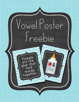 Vowel Poster Freebie