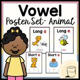 Vowel Poster Set - Animal Edition