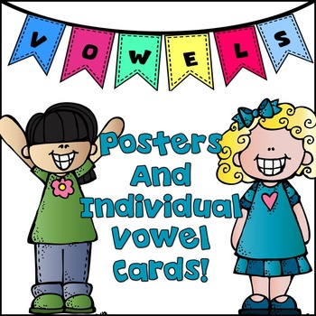 Vowel Posters & Individual Chart in Color & Black & White!
