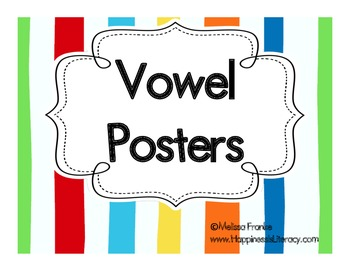 Vowel Posters for the Primary Classroom