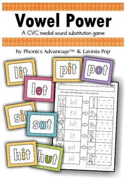 Vowel Power - A CVC medial sound substitution game