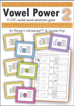Vowel Power 1 & 2 - CVC & CVCC Medial Sound Substitution Phonics Games