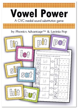 Vowel Power 1 & 2 - CVC & CVCC Medial Sound Substitution P