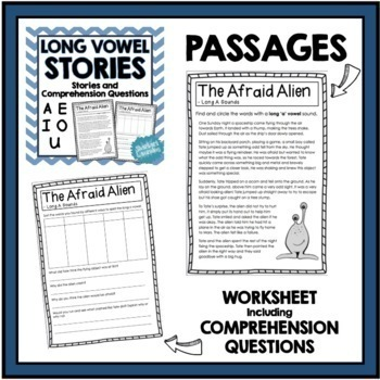 Vowel Practice BUNDLE - short and long vowel passages and comprehension!