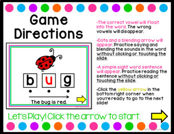 Vowel Practice {PowerPoint Game}