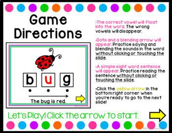 Vowel Practice {Interactive Game}