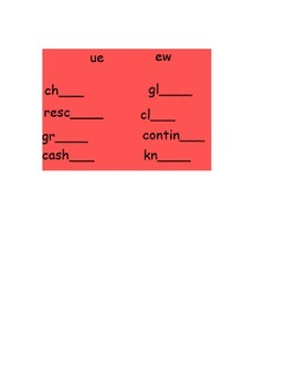 Vowel Practice for UE and EW Smartboard