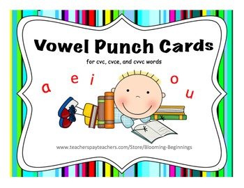 Vowel Punch Cards!