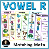 Vowel R Words Matching Mats for Word Reading Practice Bossy R Matching Game