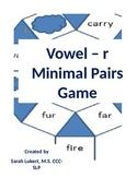 Vowel R minimal pairs game